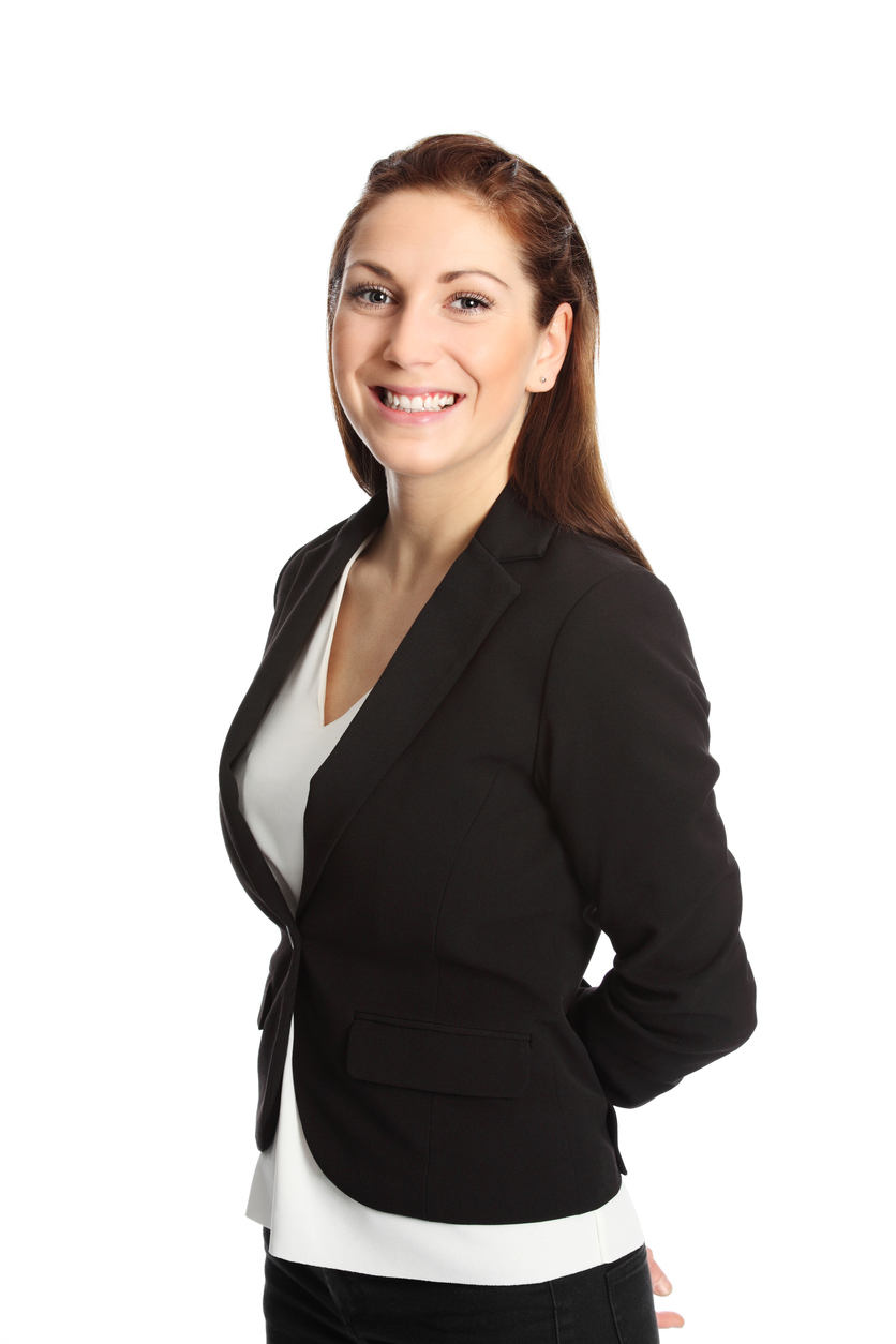 Attractive businesswoman in a suit