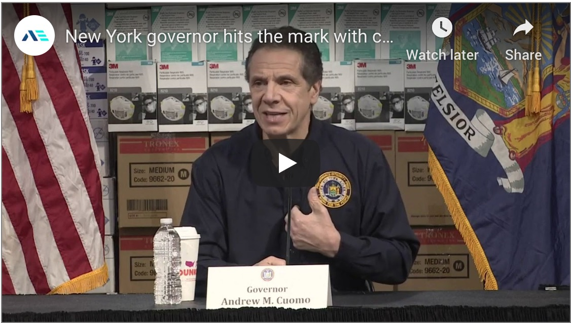 New York Governor Hits the Mark with Clear Coronavirus Messaging